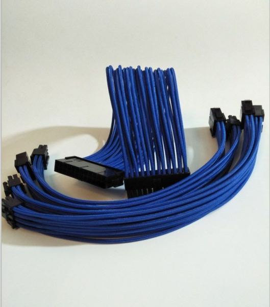 PSU Extension Customize Sleeve Cables Dark Blue