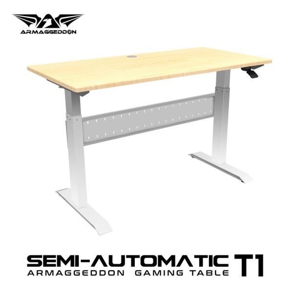 Armaggeddon Semi-Auto T1 Hydraulic Height Adjustable Gaming Table Sit Stand