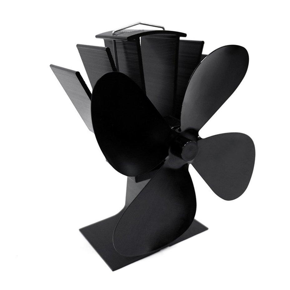 FCU 4 Blades Heat Powered Stove Fan Silent Heat Powered Stove Fan Fireplace Fan