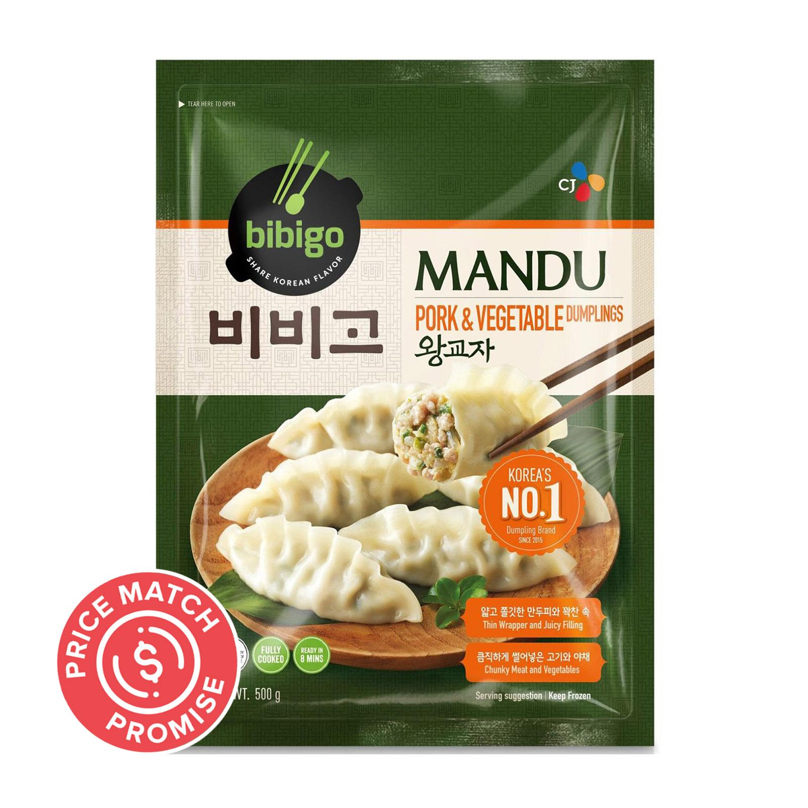CJ Bibigo Mandu (Korean Dumpling Pork and Vegetable) - Frozen