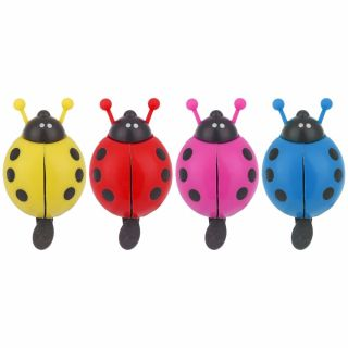 FEAT Cute Kid Beetle Safety Warning Cycling Accessories Bicycle Bell Lovely Ladybug Handlebar Bike Alarm Ring thumbnail