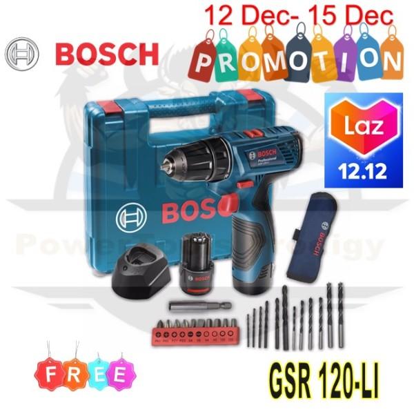 BOSCH GSR 120-LI 12V CORDLESS DRILL DRIVER / DRILL / DRILL WOOD AND METAL / SCREW AND UNSCREW