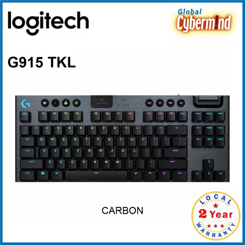 Logitech G915 TKL Tenkeyless LIGHTSPEED Wireless RGB Mechanical Gaming Keyboard (Brought to you by Global Cybermind) Singapore