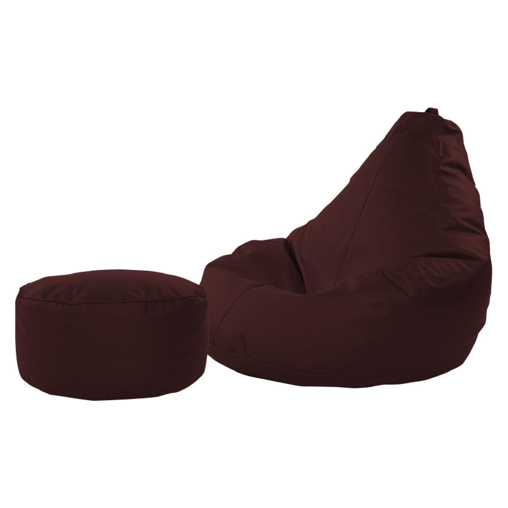 Jiji Nano Bean Bag 90 X 70 X 80 Cm With Leg Rest Stool - Beanbag/ Bean Bag Chair /styrofoam Particles Filled/ Fabric Outer Layer/ Washable / Small Sofa (sg) By Jiji.