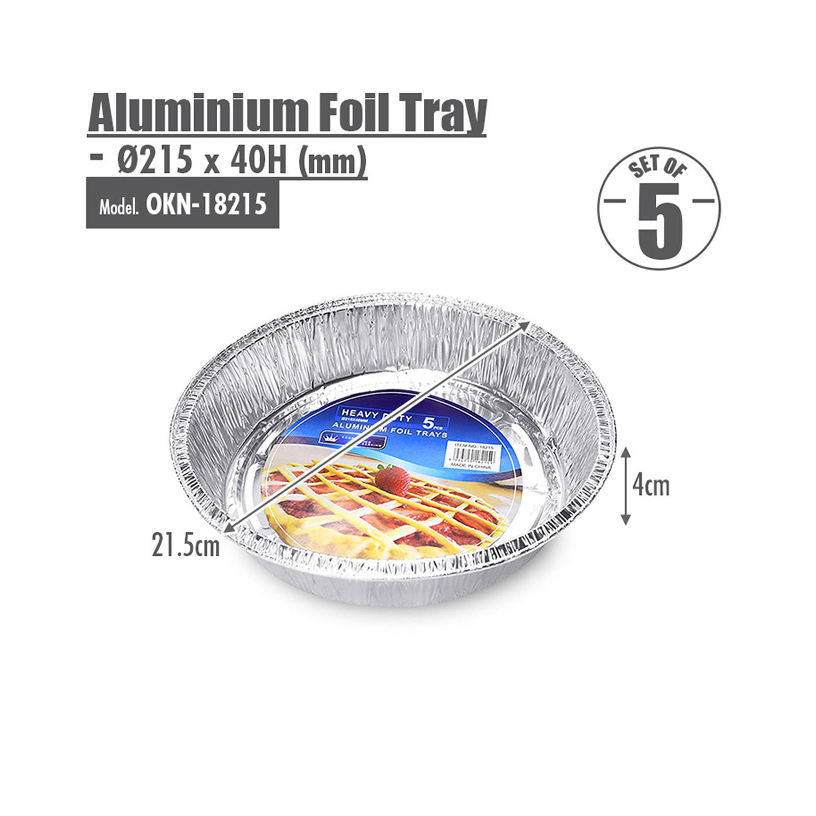 HOUZE Round Aluminium Foil Tray - Set of 5