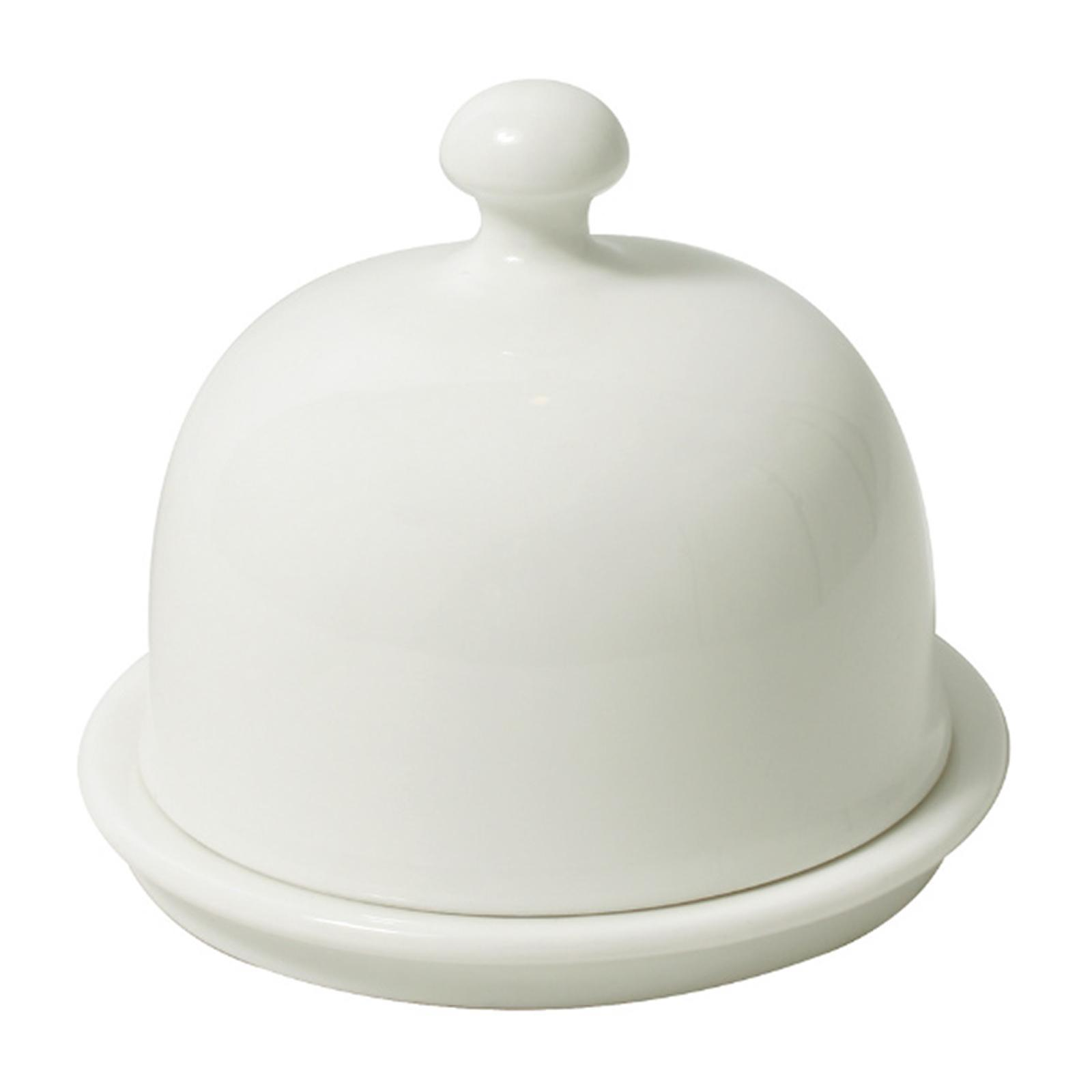 Cerabon Essentials Porcelain Mini Butter Dish With Cover Diameter 90 x 80MM - By ToTT