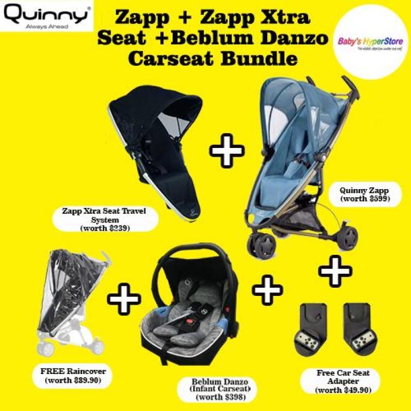 QUINNY Zapp Stroller (Purple) + Zapp Xtra Seat (Red) + Danzo Car Seat (Black) BUNDLE DEAL Singapore