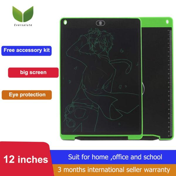 [Early Eduaction tool For Kids] Eversalute 12 Inch LCD Writing Tablet ,kids toy,LCD Writing Board Doodle Board Kids Drawing Board Graphic Drawing Tablet Electronic Writing Pad with Stylus for Kids Family Memo Office Designer