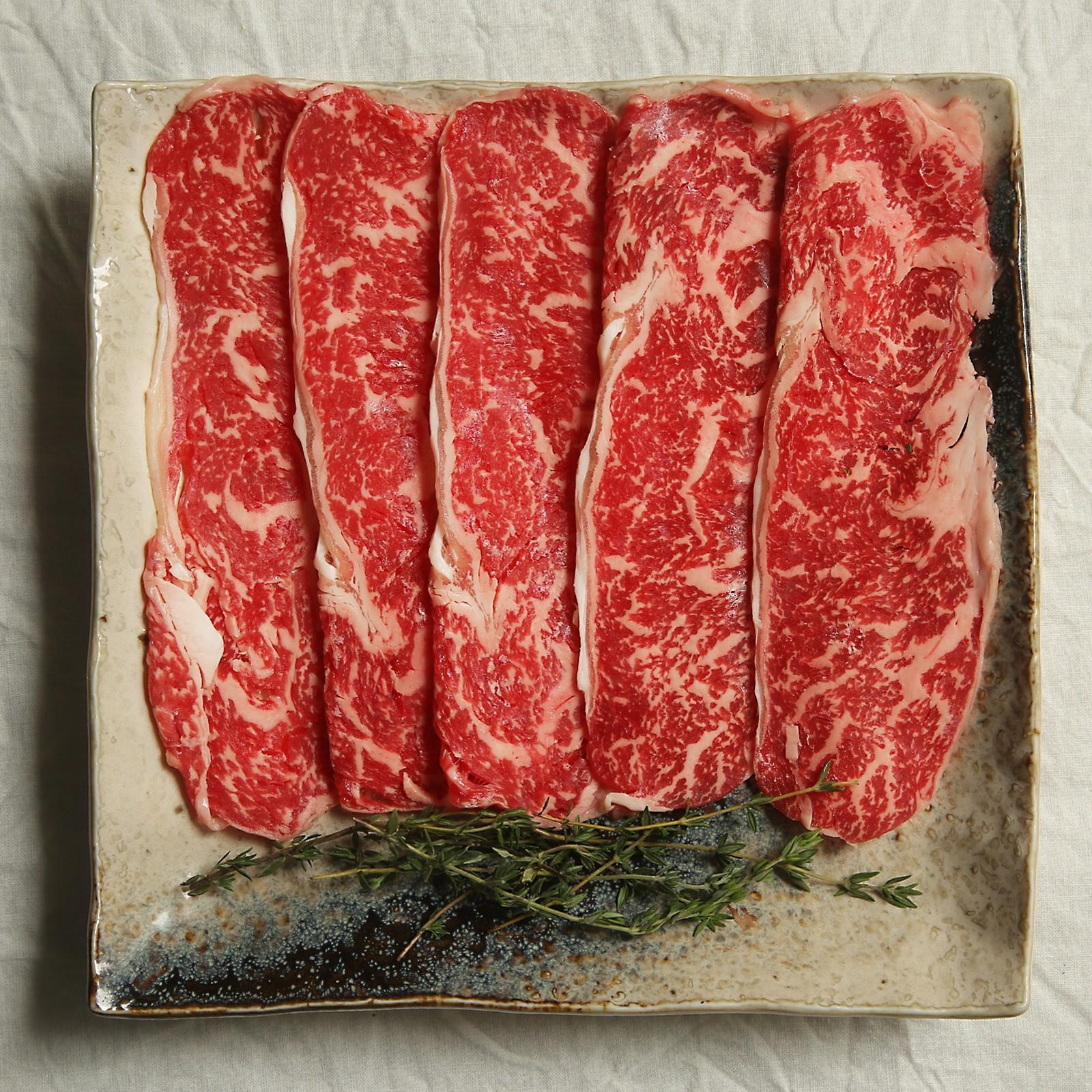 The Butcher's Dining Japanese Hokkaido Tokachi Wagyu Shabu Shabu Sirloin - Frozen