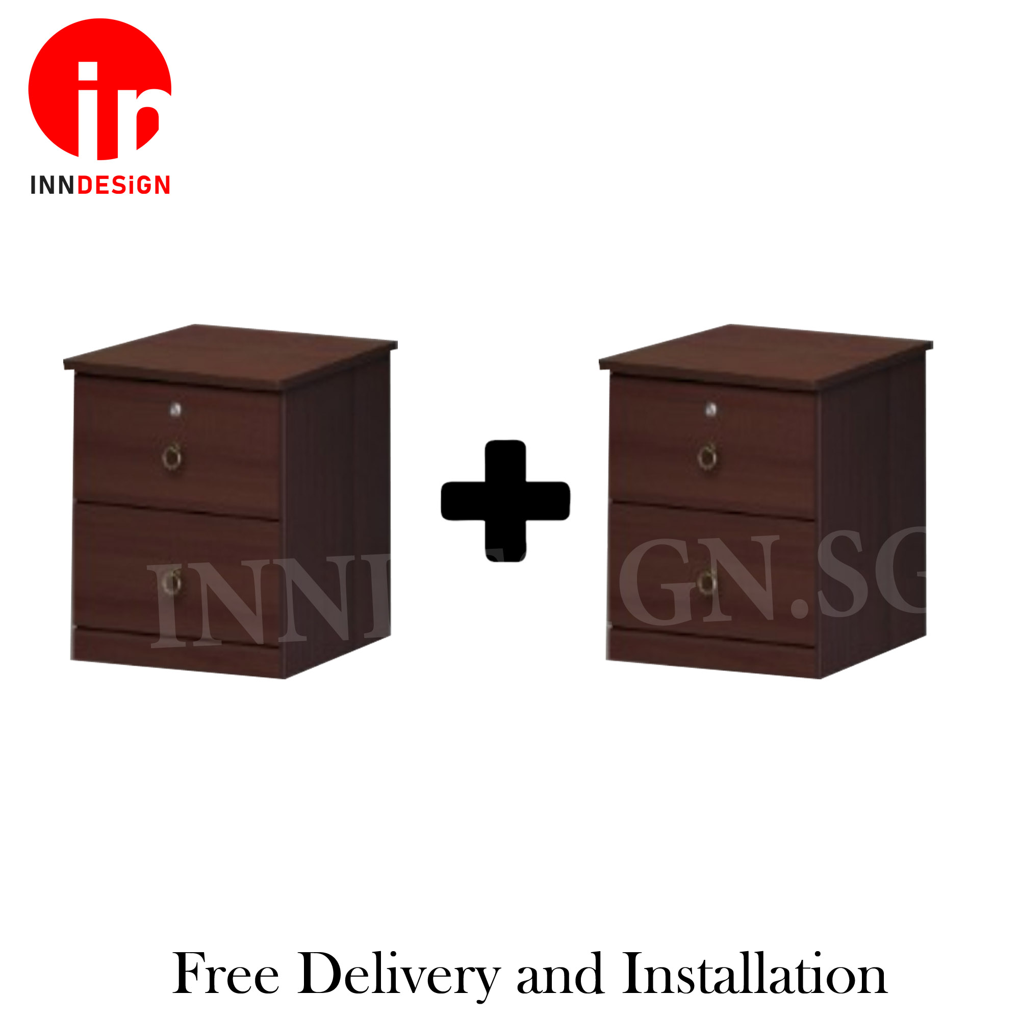 Belinde 2 Units Bedside Table / Side Table / Drawer / Cabinet / Bed Side Table (Free Delivery and Installation)