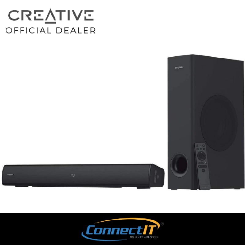 Creative Stage V2 2.1 High Performance Wireless Bluetooth Soundbar with Subwoofer for TV, Computers, and Ultrawide Monitors Singapore