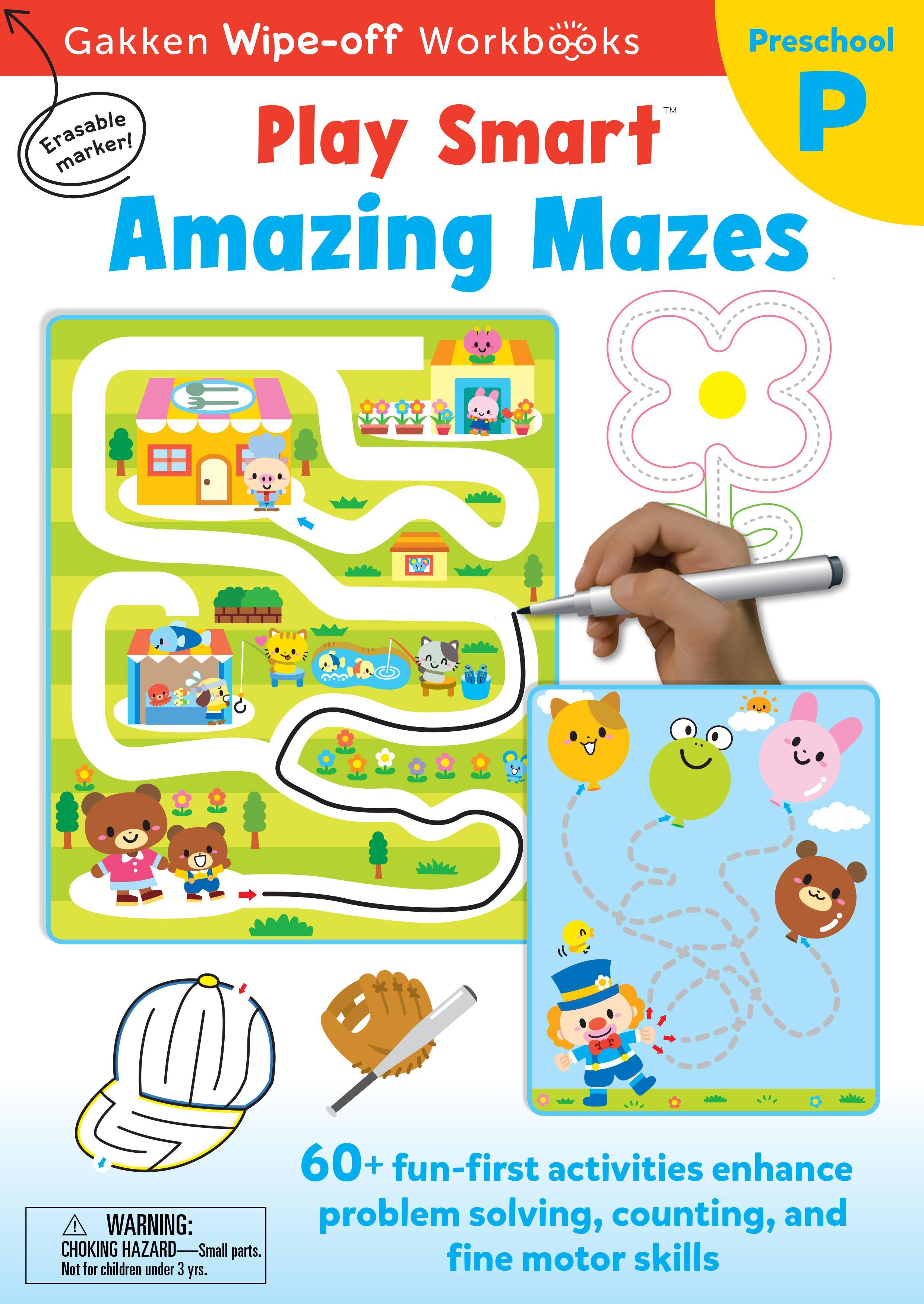 PlaySmart : Wipe&Off Amazing Mazes