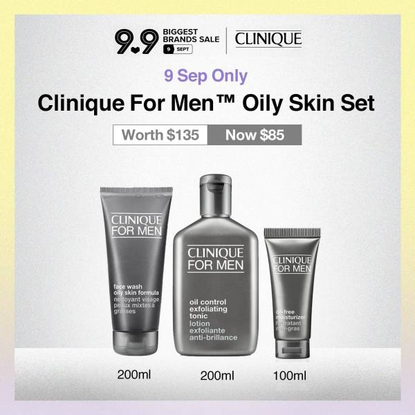 Buy [9-13sep exclusive at $85] Clinique For Men Oil Control Set (Worth $135) Singapore