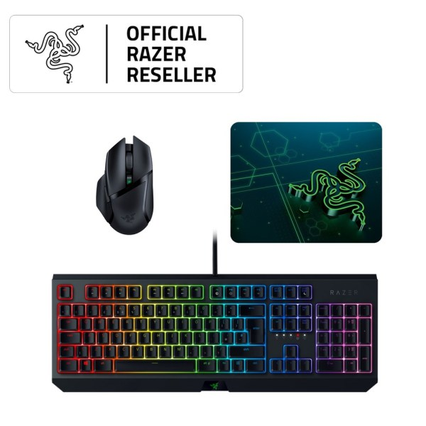 Razer Blackwidow Mechanical (Green Switch) + Razer Basilisk X Hyperspeed + Razer Goliathus Mobile (Small) Singapore