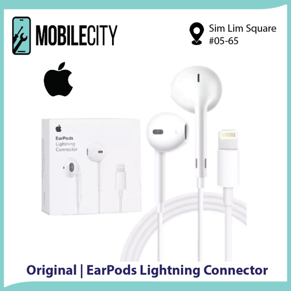 [Original] Apple EarPods with Lightning Connector Wired Earphones In-line Remote Microphone Singapore