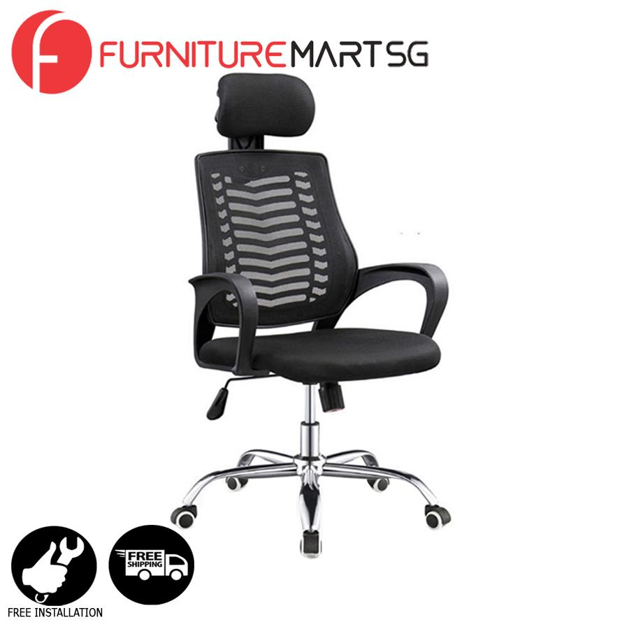 [FurnitureMartSG] Hanna Office Chair in Black_FREE DELIVERY + FREE INSTALLATION
