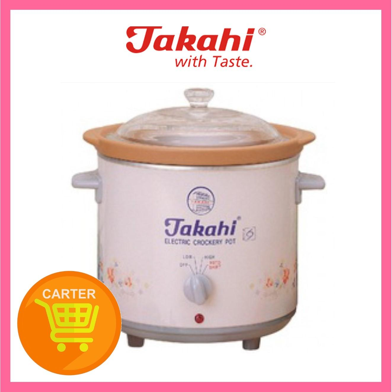 Takahi 2404 3.5L Electric Slow Cooker Heat Resistant Pot (PINK)