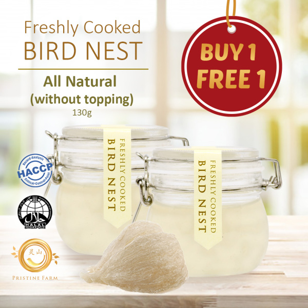 Buy [***BUY 1 FREE 1***] Freshly Cooked Bird Nest ★ Receive Warm ★ Perfect as Gift ★ Pristine Farms ★ Singapore