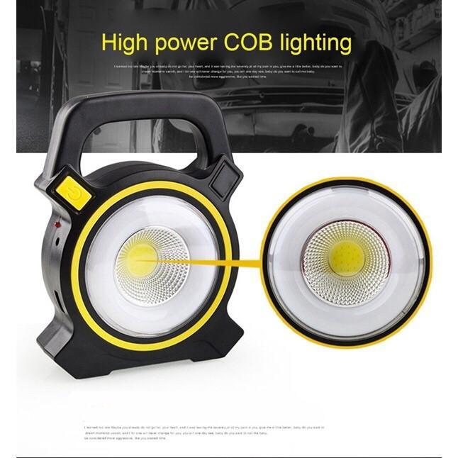 50W Solar Portable Rechargeable LED Flood Light Outdoor Garden Work Spot Lamp