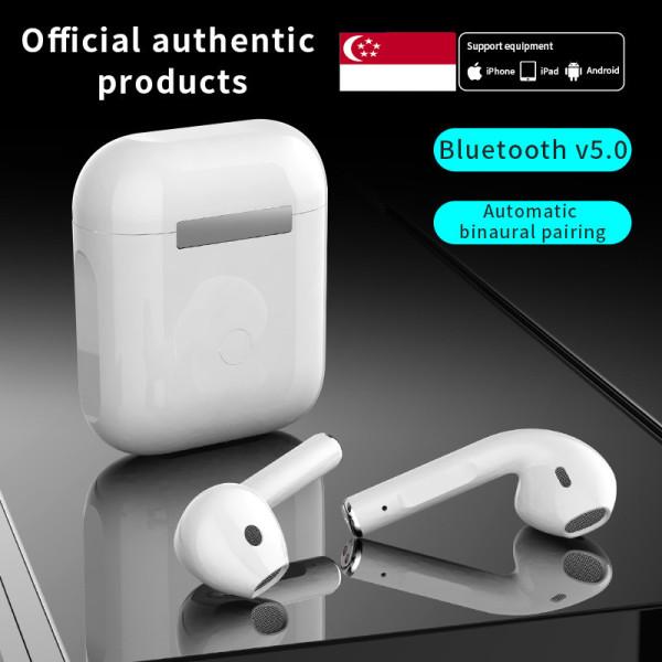 Free shipping-TWS i12 Bluetooth Headphones IPX5 Waterproof Sport Wireless Earphones Earbuds with Mic Singapore
