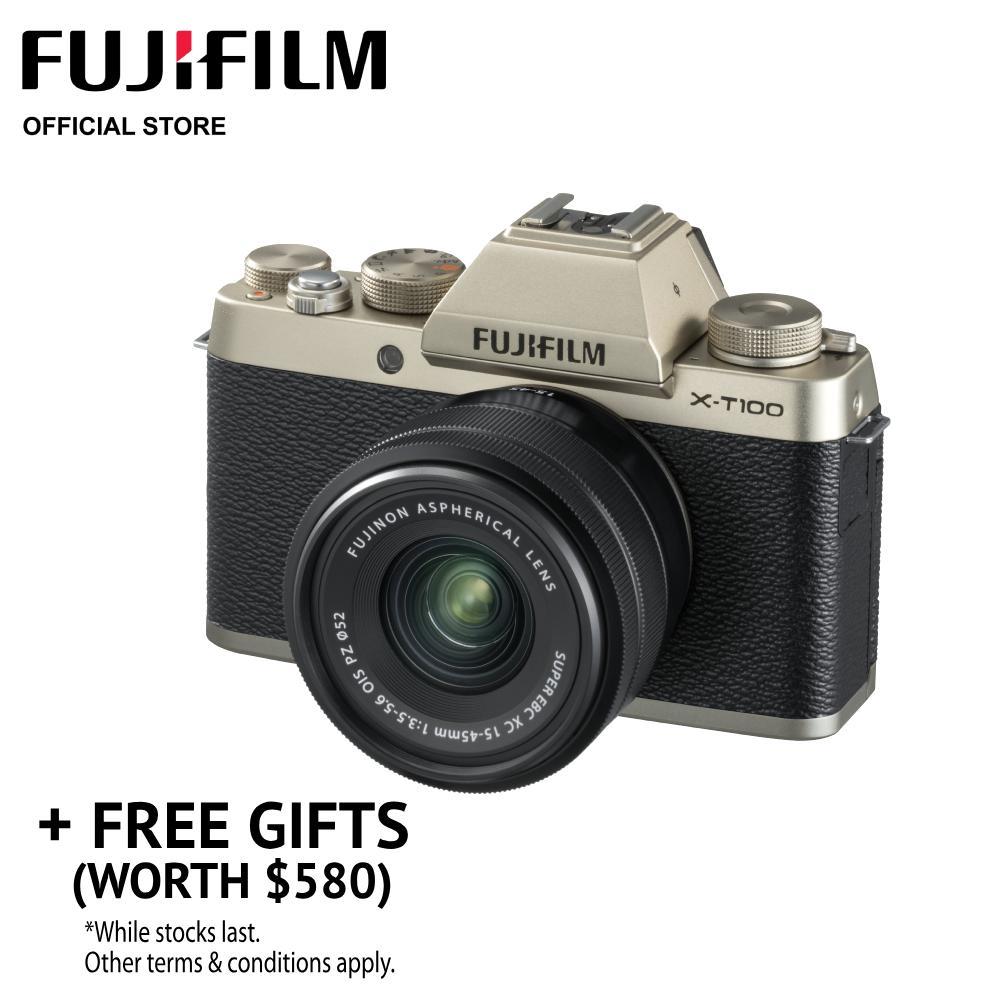 [may Promo] Fujifilm X-T100 Body + Xc15-45mm Power Zoom Kit (free Gift Worth $580) By Fujifilm