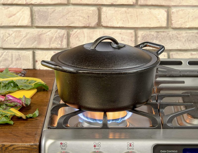 Lodge Pro Logic 4 Quart Large Professional Pro Chef Pre-Seasoned Cast Iron Dutch Oven Kitchen Cooking Pot Singapore