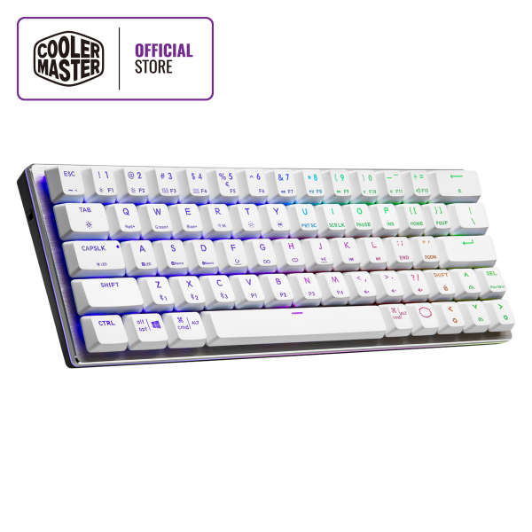 Cooler Master SK622 Wireless 60% Mechanical Keyboard, Low Profile Switches, RGB Backlighting, Ergonomic Keycaps, Brushed Aluminum Design, Multiple OS Support Singapore
