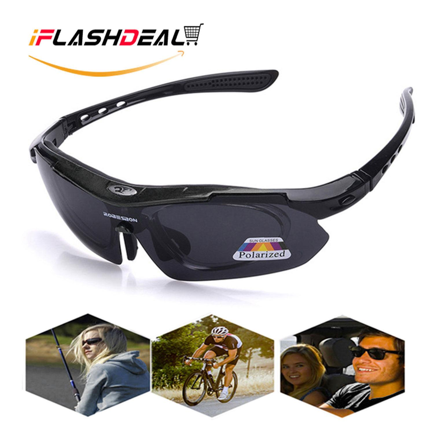 Iflashdeal Men Sports Sunglasses Polarized Outdoor Sport Driving Male Women Sun Glasses Cycling Riding Running Glasses By Iflashdeal.