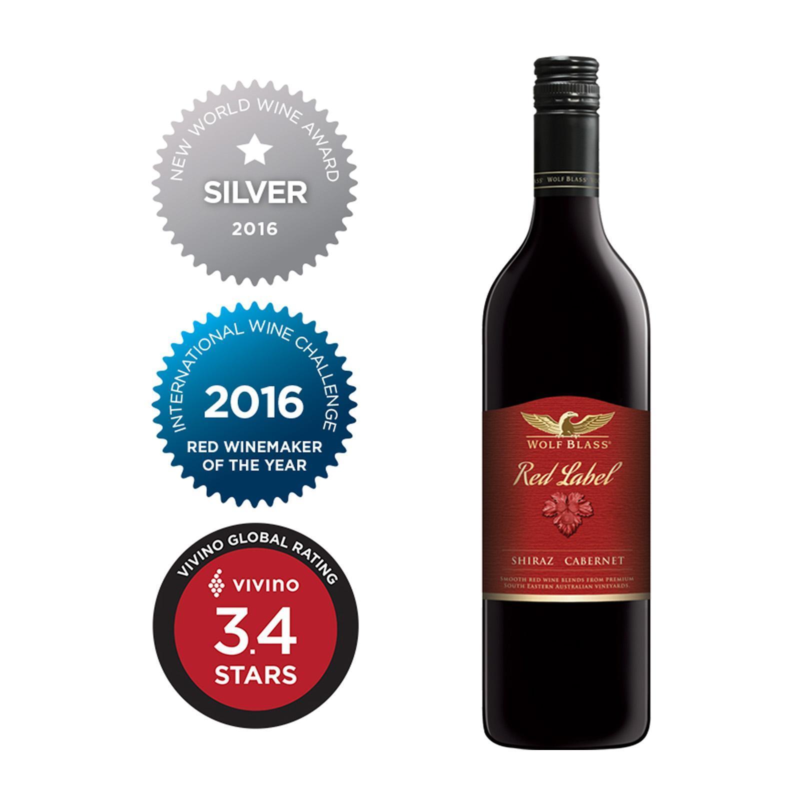 Wolf Blass Red Label Shiraz Cabernet Smooth Red Wine