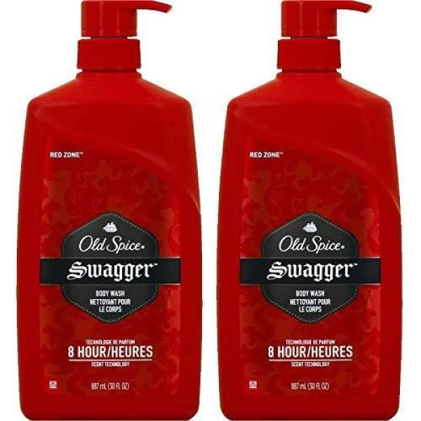 Buy Old Spice Swagger Body Wash - Red Zone, Value Pack of 2-30 Ounce Bottles (Total 60 Ounce) Singapore