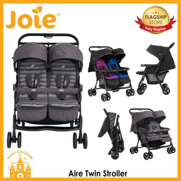 Joie Aire Twin Stroller (Rosy & Sea / Dark Pewter) Singapore