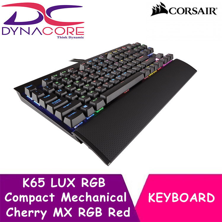 DYNACORE - Corsair K65 LUX RGB Compact Mechanical Gaming Keyboard — Cherry MX RGB Red Singapore