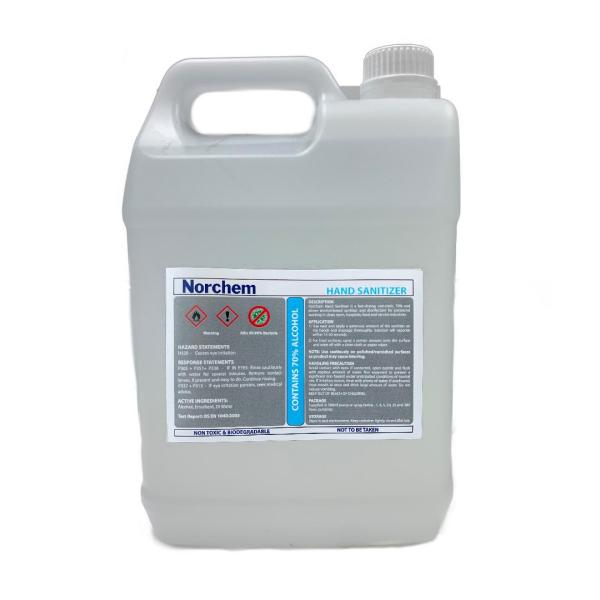 Buy Norchem Hand Sanitizer 70% Isopropyl Alcohol Based - 5L Singapore