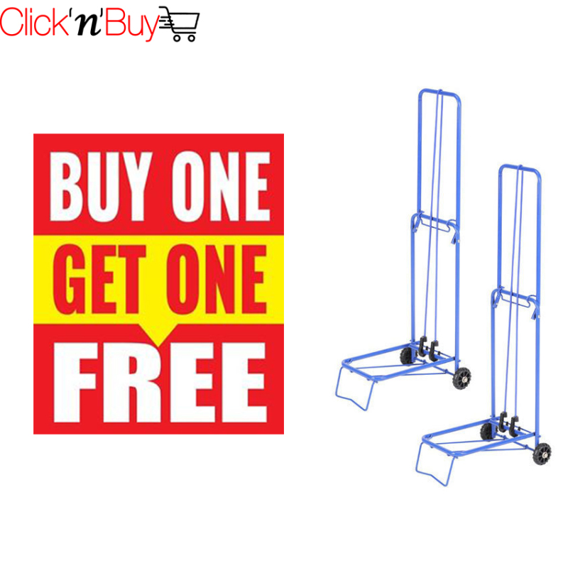 Folding Trolley. **Buy 1 Get 1 FREE**. Suitable for many multi purpose usage. Extremely light weight - Only 1.5 kg. Can hold up to 35 kg. Local SG Seller. Wholesale Available.