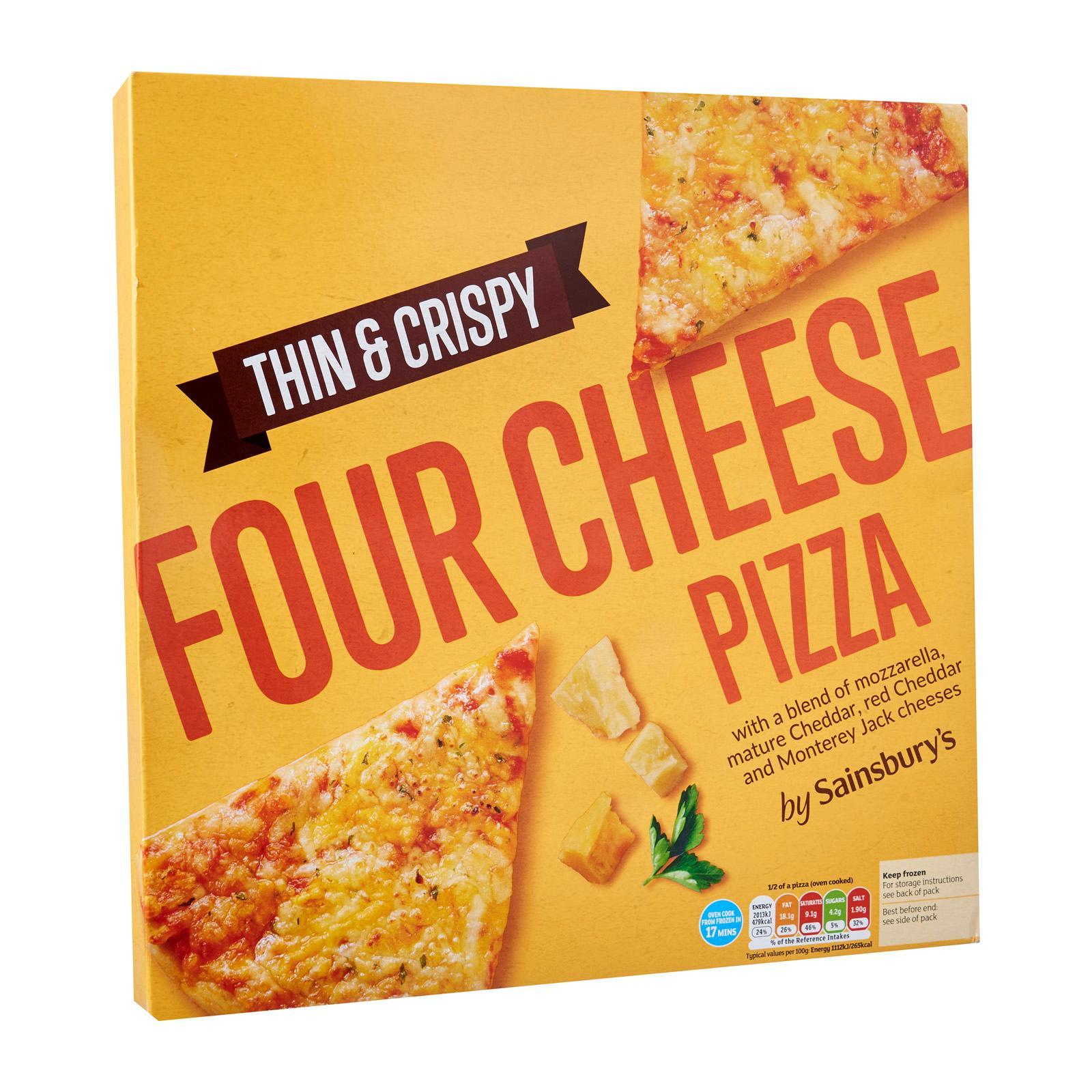 Sainsbury's Thin And Crispy Four Cheese Pizza - Frozen