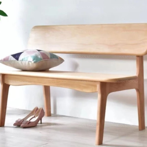[Pre-Order] POLLY Rustic Solid Pine Wood Bench
