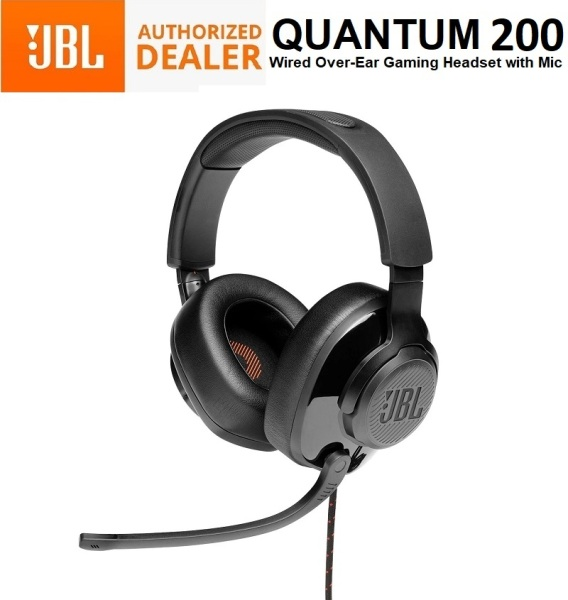 JBL Quantum 200 Wired Over the Ear Gaming Headphone Headset Earphone 3.5mm with Mic Singapore