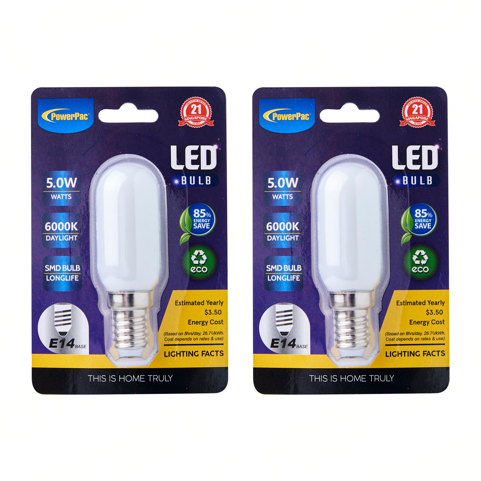 PowerPac 2 Pieces 5W E14 LED Bulb Day Light - PP6226