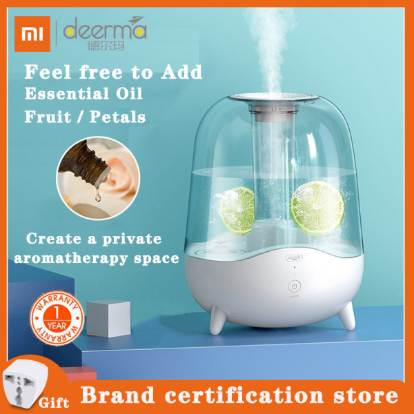 XIAOMI DEERMA Ultrasonic Cool Mist Humidifier,Essential Oil Diffuser Aromatherapy, 5L Large Capacity, Auto Shut Off, Ajustable Mist Volume, Whisper Quiet, Lasts Up to 24 Hours Singapore