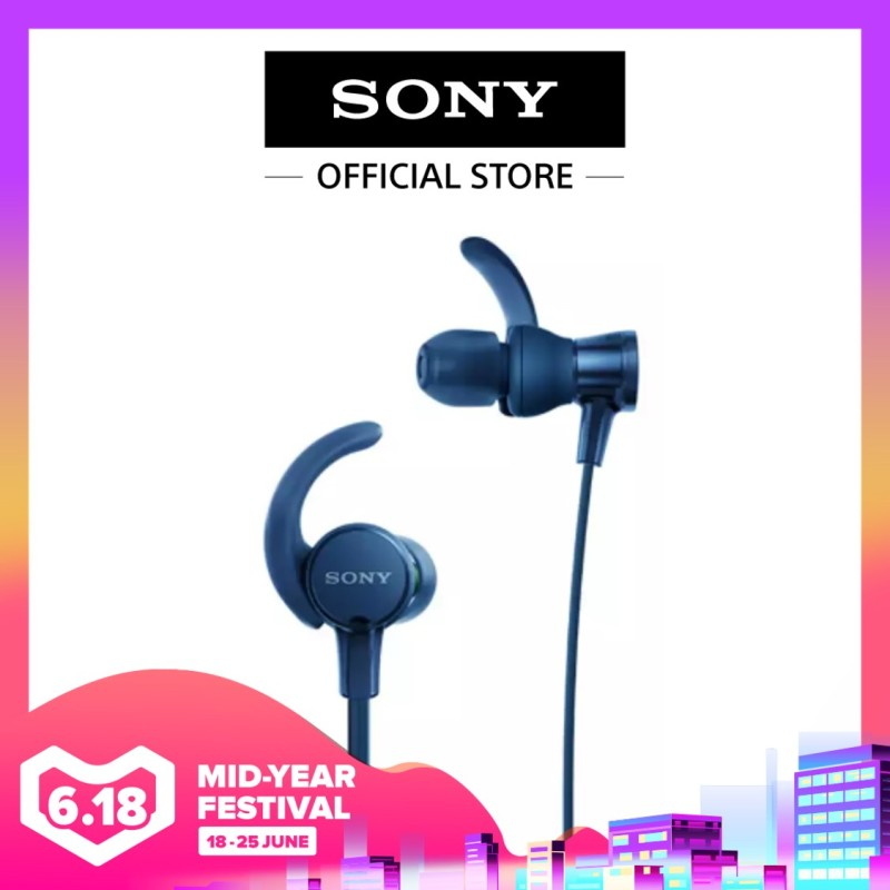 Sony Singapore MDR-XB510AS/ MDRXB510AS EXTRA BASS Sports Headphone (Blue) Singapore