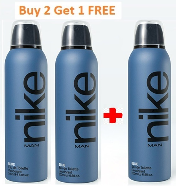 Buy Buy 2 Get 1 FREE - Nike Blue Man edt Deodorant 200 ml Singapore