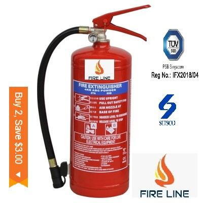 4KG SG Approved ABC Dry Powder Fire Extinguisher ( With Two Year Warranty)