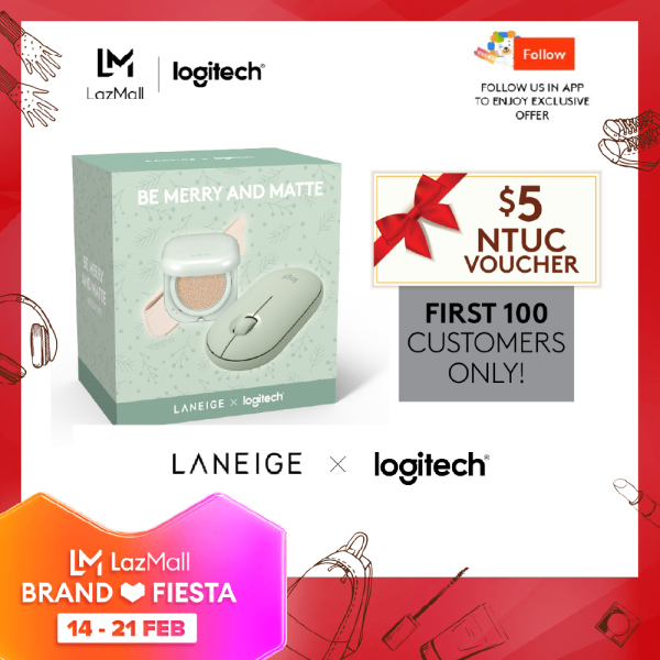 Logitech Pebble Mouse x Laneige - Additional $5 NTUC voucher for first 100 purchase
