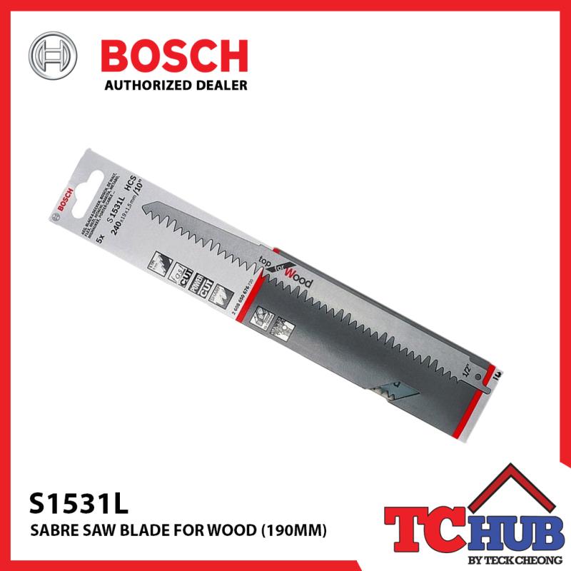 Bosch S1531L Wood Sabre Saw Blades (5PCS)