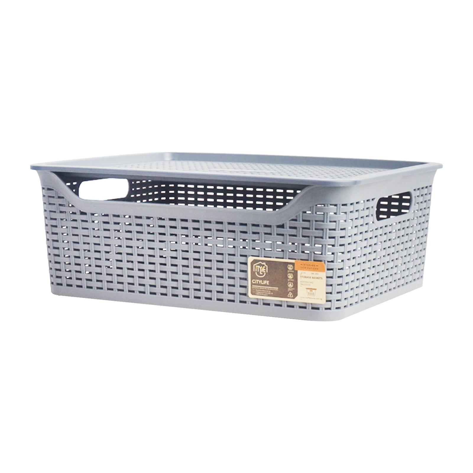 CITYLIFE Storage Basket With Lid
