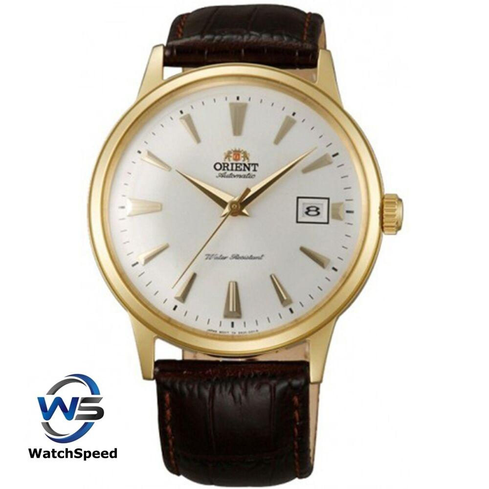 Orient SAC00003W0 Bambino Crystal Japan Automatic Gold Men's Watch SAC00003W