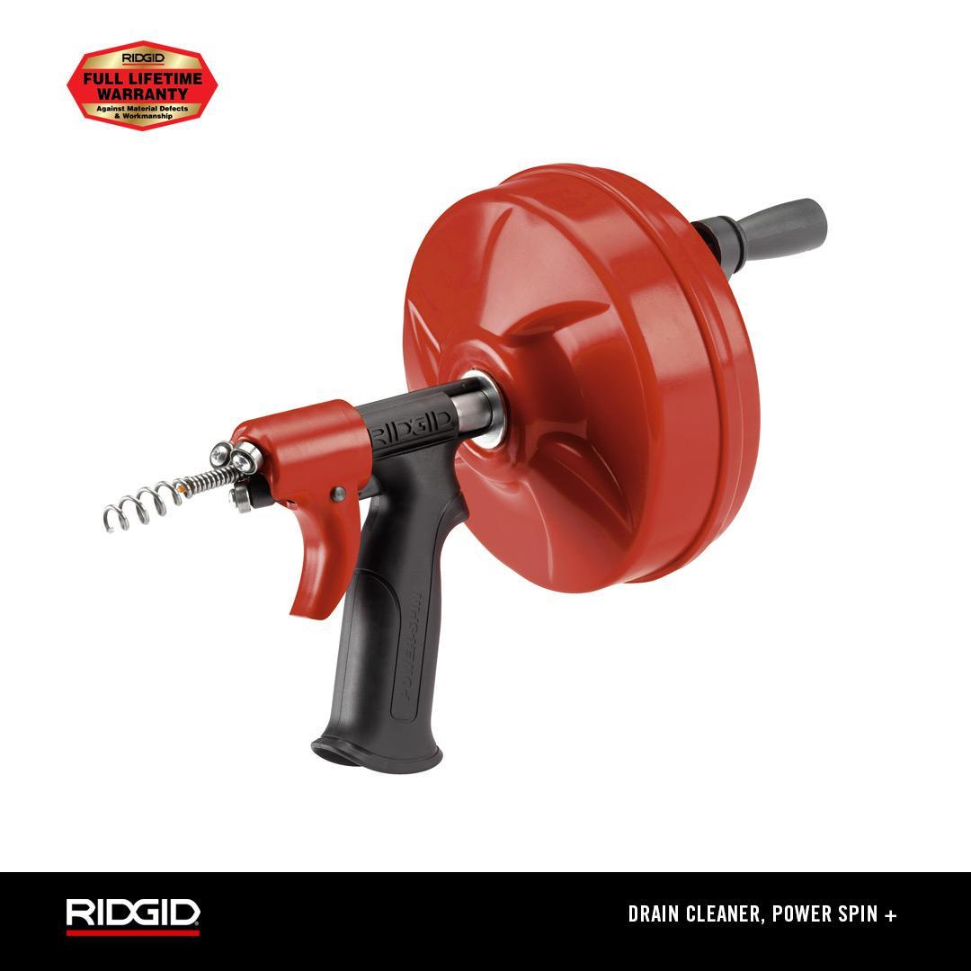 RIDGID DRAIN CLEANER, POWER SPIN +