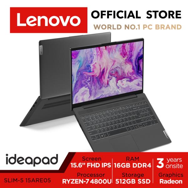 Lenovo ideaPad SLIM 5 81YQ00GGSB | 15.6inch FHD IPS | Ryzen 7 4800U | 16GB RAM | 512GB SSD | 3Y Onsite Warranty