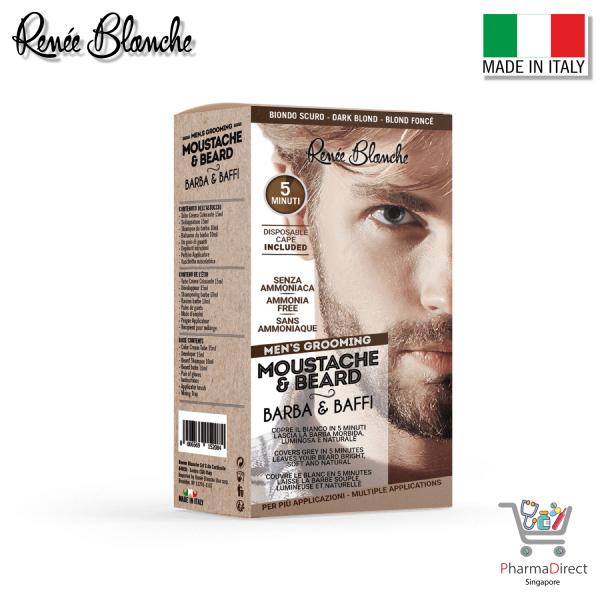 Buy Renee Blanche Mens Grooming Moustache & Beard Dark Brown Made in Italy Singapore