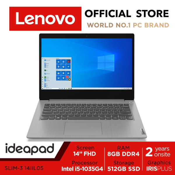 【Same Day Delivery】Lenovo ideapad 3i | 81WD005XSB | 14inch FHD IPS | Intel i5-1035G4 | 8GB RAM | 512GB SSD | 2Y Warranty| Win10